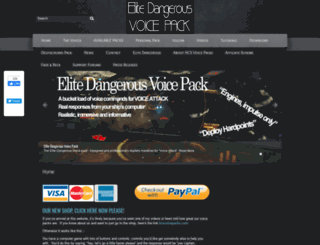 elitedangerousvoicepack.com screenshot