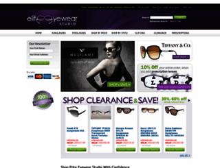 eliteeyewearstudio.com screenshot