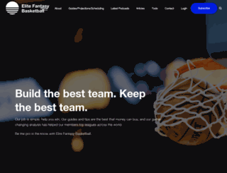elitefantasybasketball.com screenshot