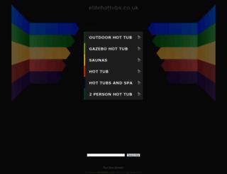 elitehottubs.co.uk screenshot