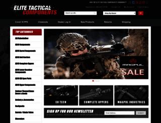 elitetacticalcomponents.com screenshot