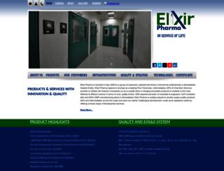 elixirpharma.in screenshot