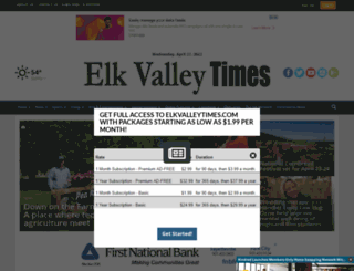 elkvalleytimes.com screenshot