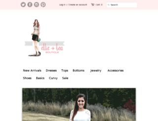 ellieandbea.com screenshot