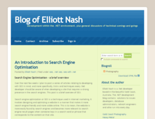 elliottnash.com screenshot