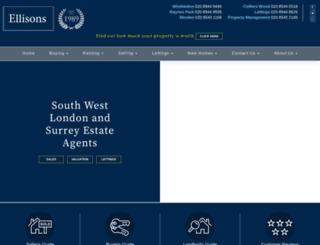 ellisons.uk.com screenshot
