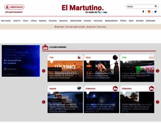 elmartutino.cl screenshot
