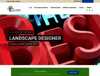 elmcreeklandscape.com screenshot