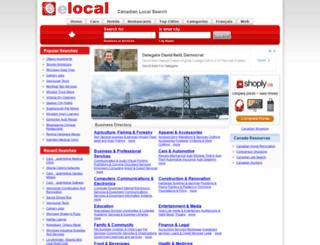 elocal.ca screenshot