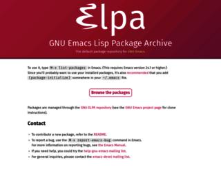 elpa.gnu.org screenshot