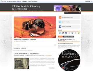 elrincondelacienciaytecnologia.blogspot.mx screenshot
