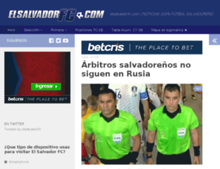 elsalvadorfc.com screenshot