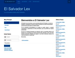 elsalvadorlex.org screenshot