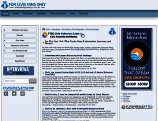 elvispresley.com.au screenshot