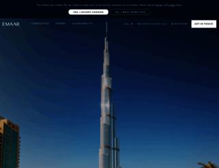 emaar.com screenshot
