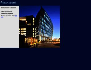 email.portofportland.com screenshot