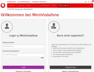 email.vodafone.de screenshot