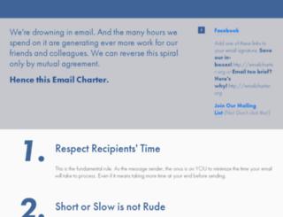 emailcharter.org screenshot