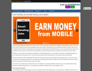 emailsendingjob.com screenshot