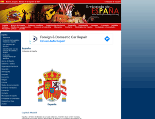embajadadeespana.org screenshot