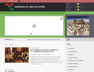 embajadadelibia.com screenshot