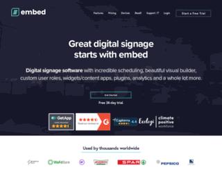 embedsignage.com screenshot