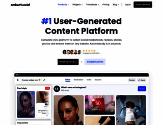 embedsocial.com screenshot