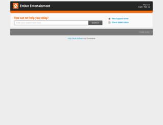 emberentertainment.freshdesk.com screenshot