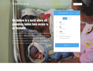 embraceglobal.org screenshot