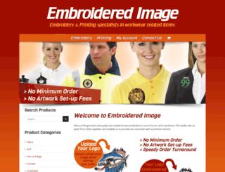 embroideredimage.co.uk screenshot