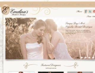 emelinasbridal.com screenshot