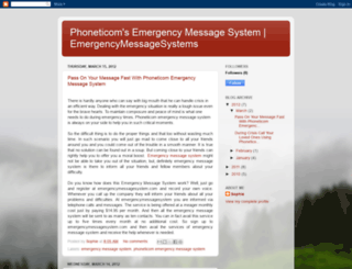 emergencymessagesystem.blogspot.com screenshot