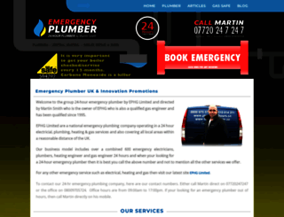 emergencyplumber.uk.com screenshot