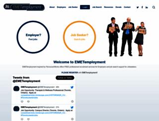 emetemployment.ca screenshot