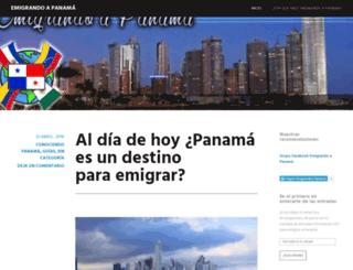 emigrandoapanama.wordpress.com screenshot