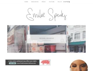 emileespeaks.com screenshot