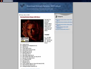 eminem-relapse-2009-album.blogspot.pt screenshot