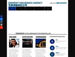 eminentinsuranceagency.com screenshot