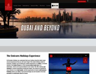 emiratesholidays.com screenshot