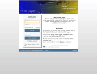 emorysaac.tennisbookings.com screenshot