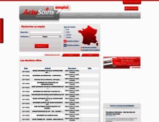 emploi-infirmier.actusoins.com screenshot