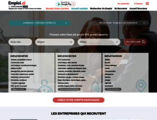 emploi.ci screenshot