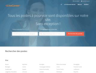 emploi.livecareer.fr screenshot