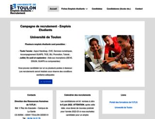 emplois-etudiants.univ-tln.fr screenshot