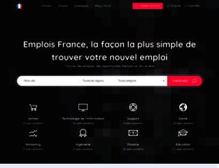 emplois-france.com screenshot