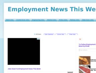 employmentnews-thisweek.blogspot.in screenshot