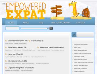 empoweredexpat.com screenshot