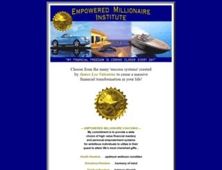 empoweredmillionaire.com screenshot