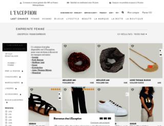 empreinte.lexception.com screenshot