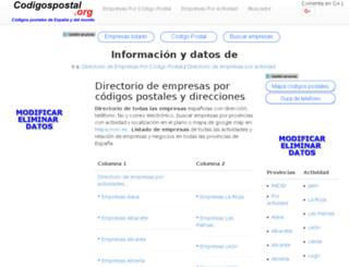 empresas.codigospostal.org screenshot